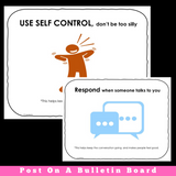 Appropriate Behaviors While Video Conferencing | ZOOM or Google Meet Cue Cards