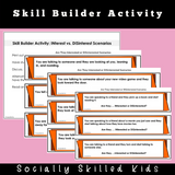 The Signs Of INterest v.s. The Signs Of DISinterest || SOCIAL STORY SKILL BUILDER
