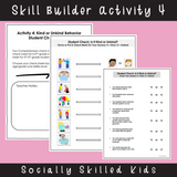 Friendship Behaviors | Social Skills Activities | Differentiated For K-5th Grade