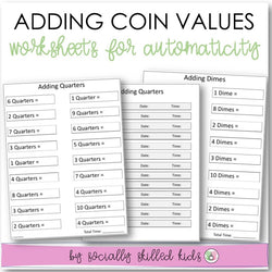 Adding Coin Values | Worksheets For Automaticity