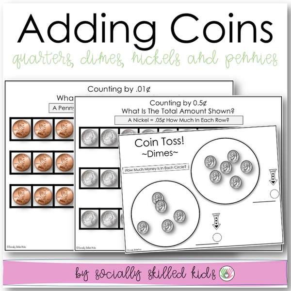 Adding Coins |  Worksheets To Identify And Add