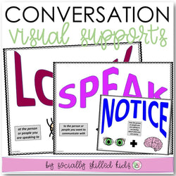 Conversation Skills | Visual Supports | Jobs of the Speaker and Listener