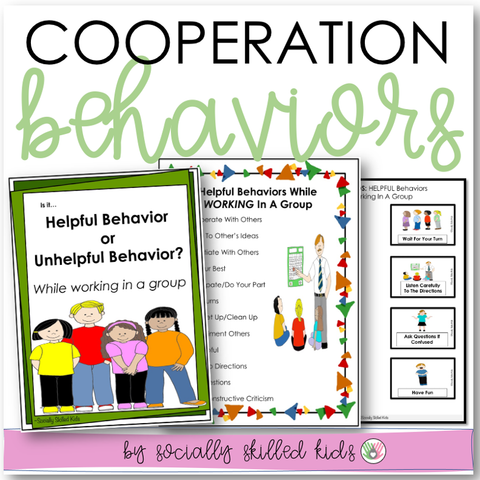 Cooperation Behaviors | Differentiated Social Skills Activities For K-5th