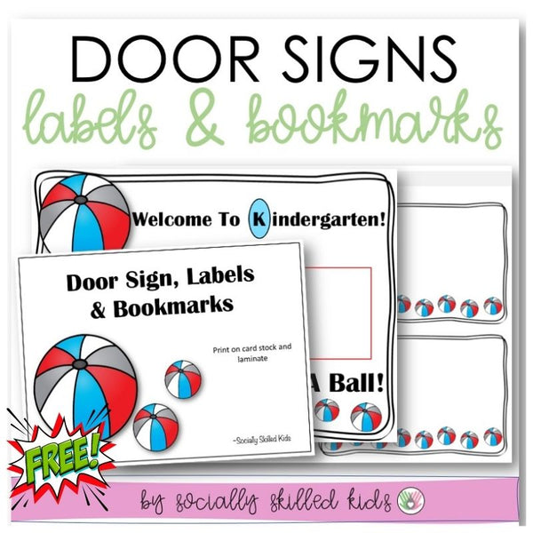 Door Signs, Labels, Bookmarks and Writing Prompt Cards