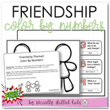 Friendship Themed Color By Number | Freebie