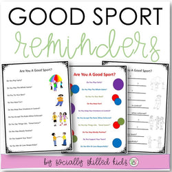 Good Sport Reminders | Differentiated Posters & Worksheets