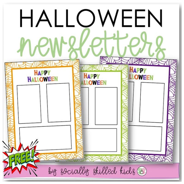 Halloween Newsletters | Editable | Freebie