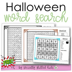 Halloween Themed Word Search | Freebie