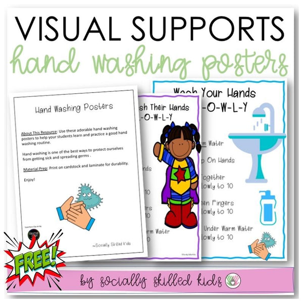 Hand Washing Posters | Visual Support Freebie