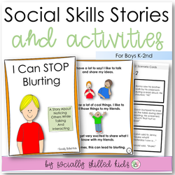 I Can Stop Blurting | Social Skills Story & Activities | For Boys K-2nd