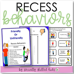 Recess Behaviors || Differentiated Social Skills Activities || For K-5th