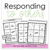 Responding To Others BINGO || Positive And Negative Scenarios