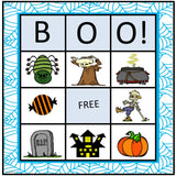 Halloween BINGO differentiated for elementary students regular or special needs. Great way to work on many social skills such as flexible thinking, attention, and good sportsmanship.