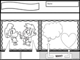 PERSPECTIVE TAKING Activity || Comic Strip Style || K-2nd || Black and White Version