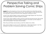 PERSPECTIVE TAKING and PROBLEM SOLVING || Comic Strip Style || For 3rd-5th || Color Version