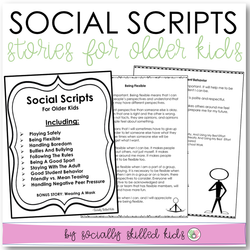 Social Scripts For Older Kids | 10 One Page Stories