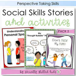 Social Skills Stories And Activities | Pack 2 | Perspective Taking | For 3rd-5th