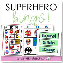 Superhero BINGO! | Differentiated BINGO For K-5th