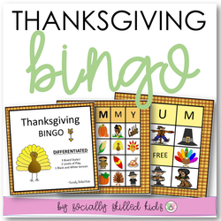 Thanksgiving  BINGO | Differentiated For K-5th Grade