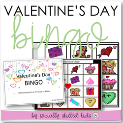 Valentine's Day BINGO | Differentiated For K-5th Grade