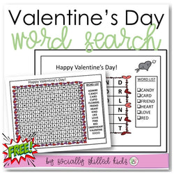 Valentine's Day Word Search | Freebie
