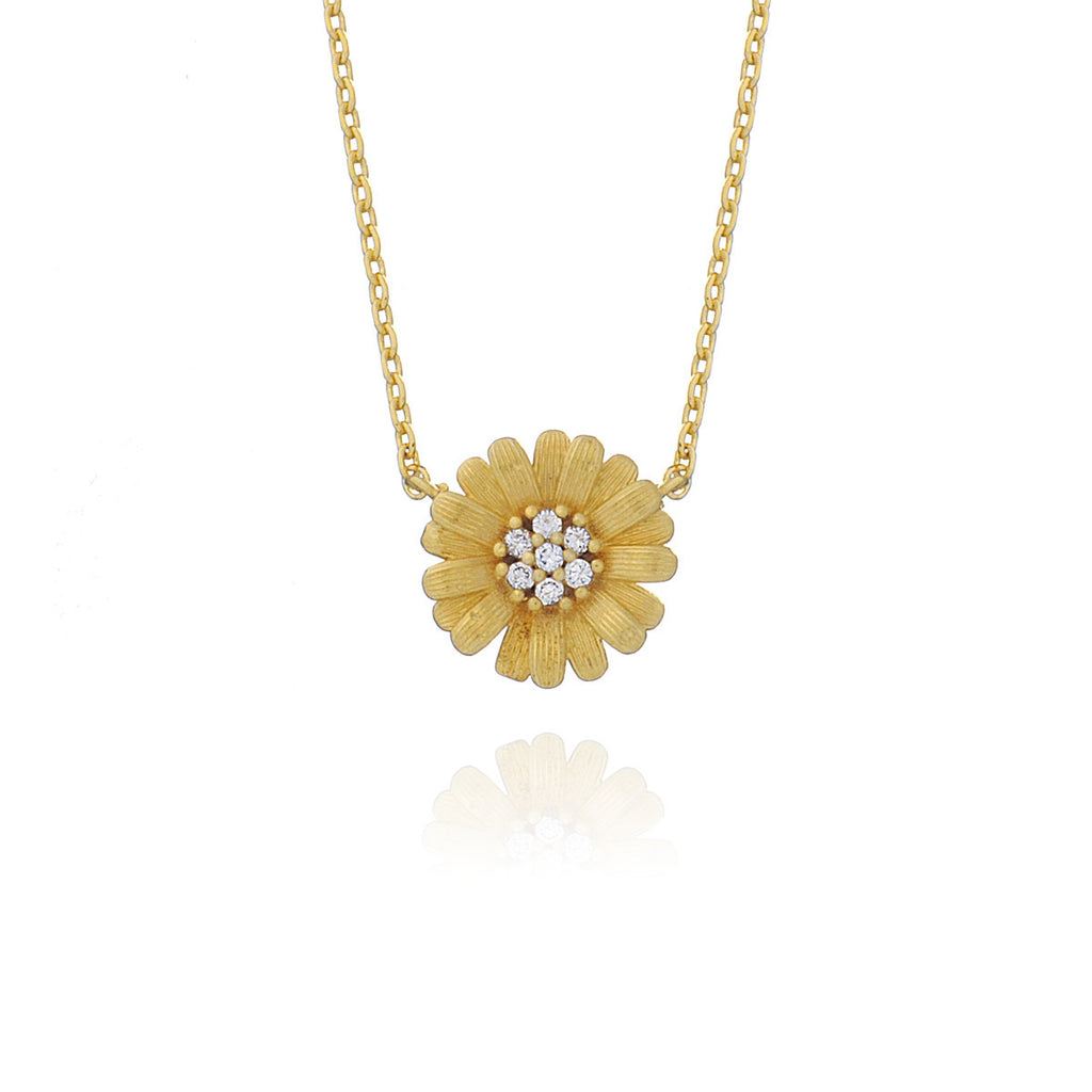 Fine Daisy Necklace - Gold