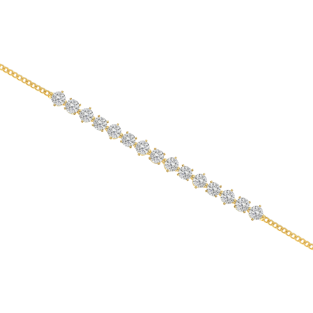 Luna Gemstone Anklet - gold
