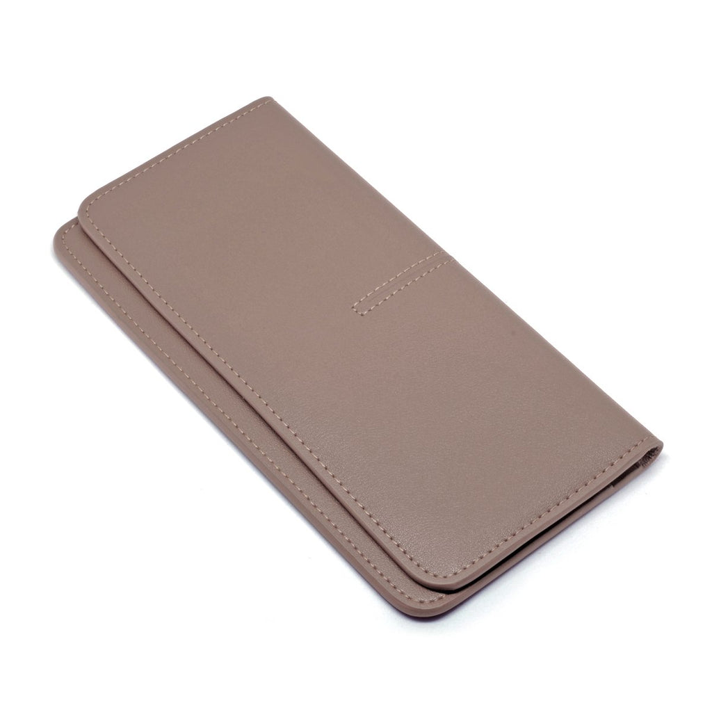 Chance Leather Wallet angle - apricot