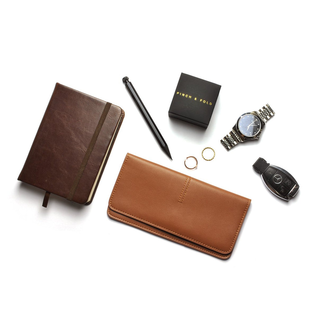 Chance Leather Wallet scale
