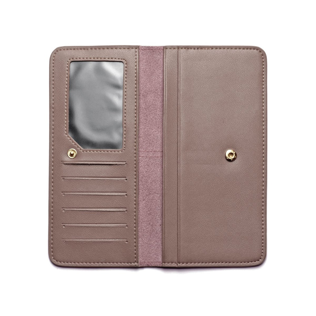 Chance Leather Wallet inside - apricot