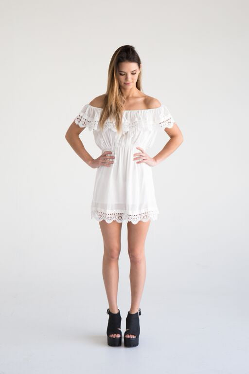Drina off the shoulder dress - White