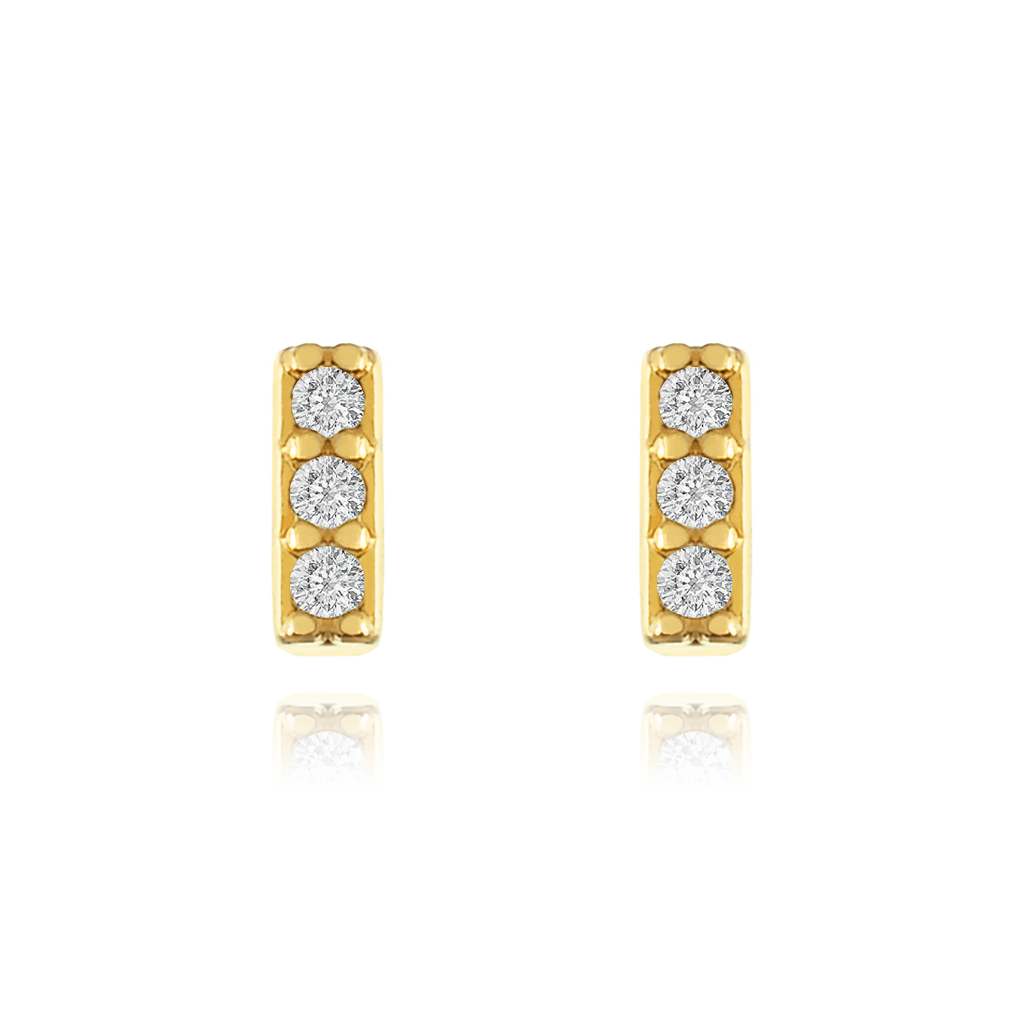 Absolute Stud Earrings - gold