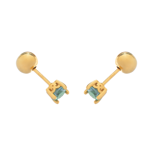 Alchemy Stud Earrings side view - gold