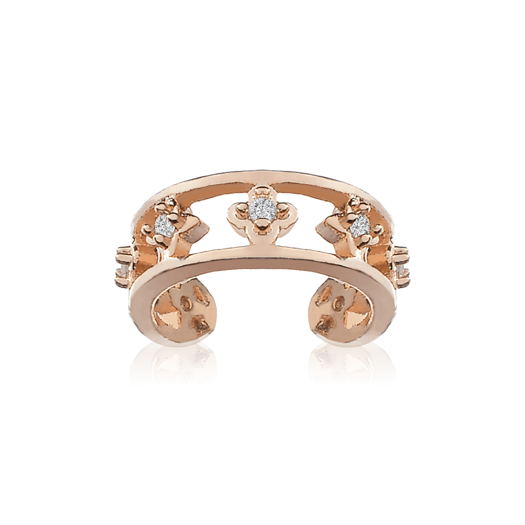 Arcadia Ear Cuff - rose gold