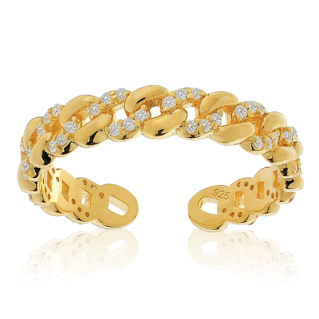 Elle Rope Chain Ring - gold
