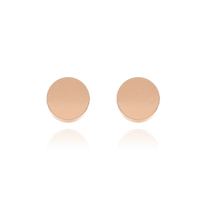 Pendant Stud Earrings - 10Kt solid rose gold