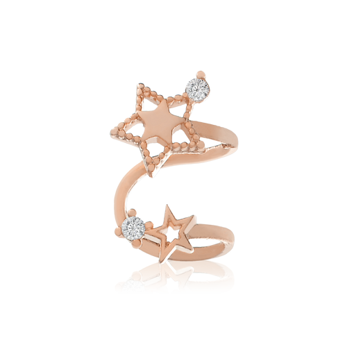 Stellar Star Ear Cuff - rose gold