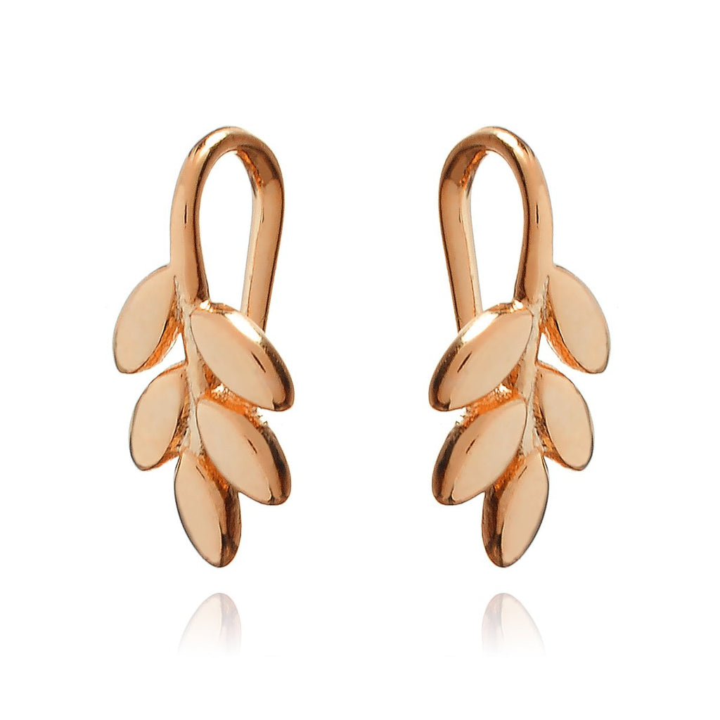 Jasmine Floral Climber Earrings - rose gold