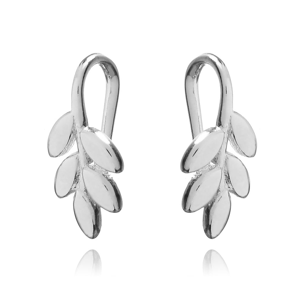 Jasmine Floral Climber Earrings - sterling silver