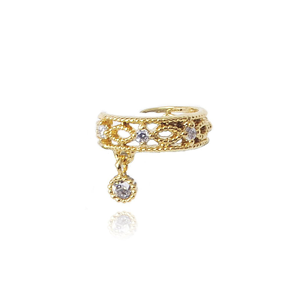 Vienna Gem Ear Cuff 2 - gold