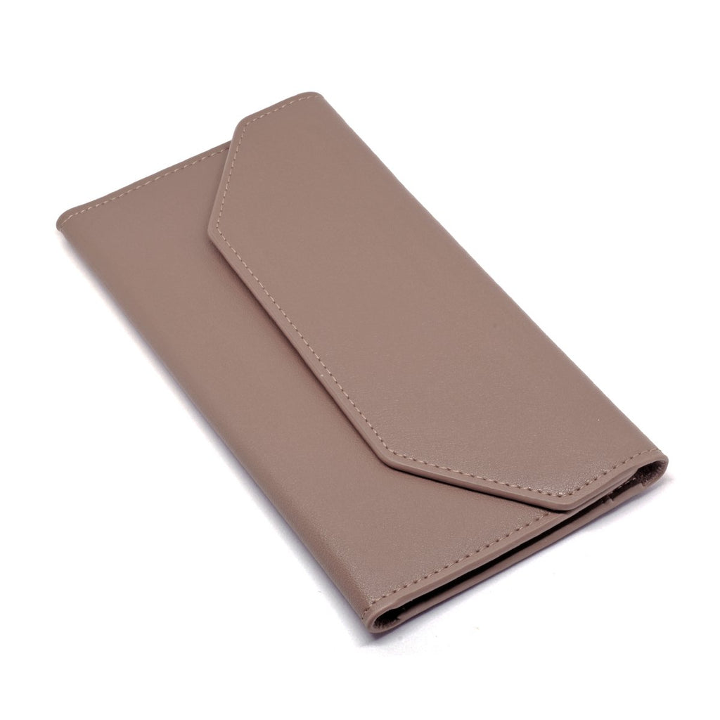 Moby Leather Wallet angle - apricot