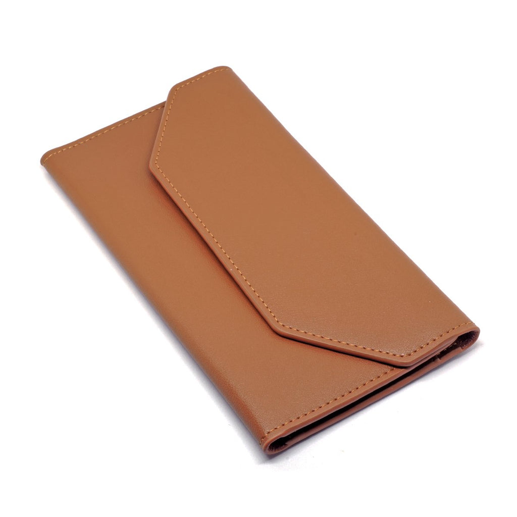 Moby Leather Wallet angle - tan