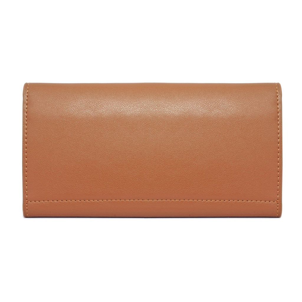 Moby Leather Wallet back - tan