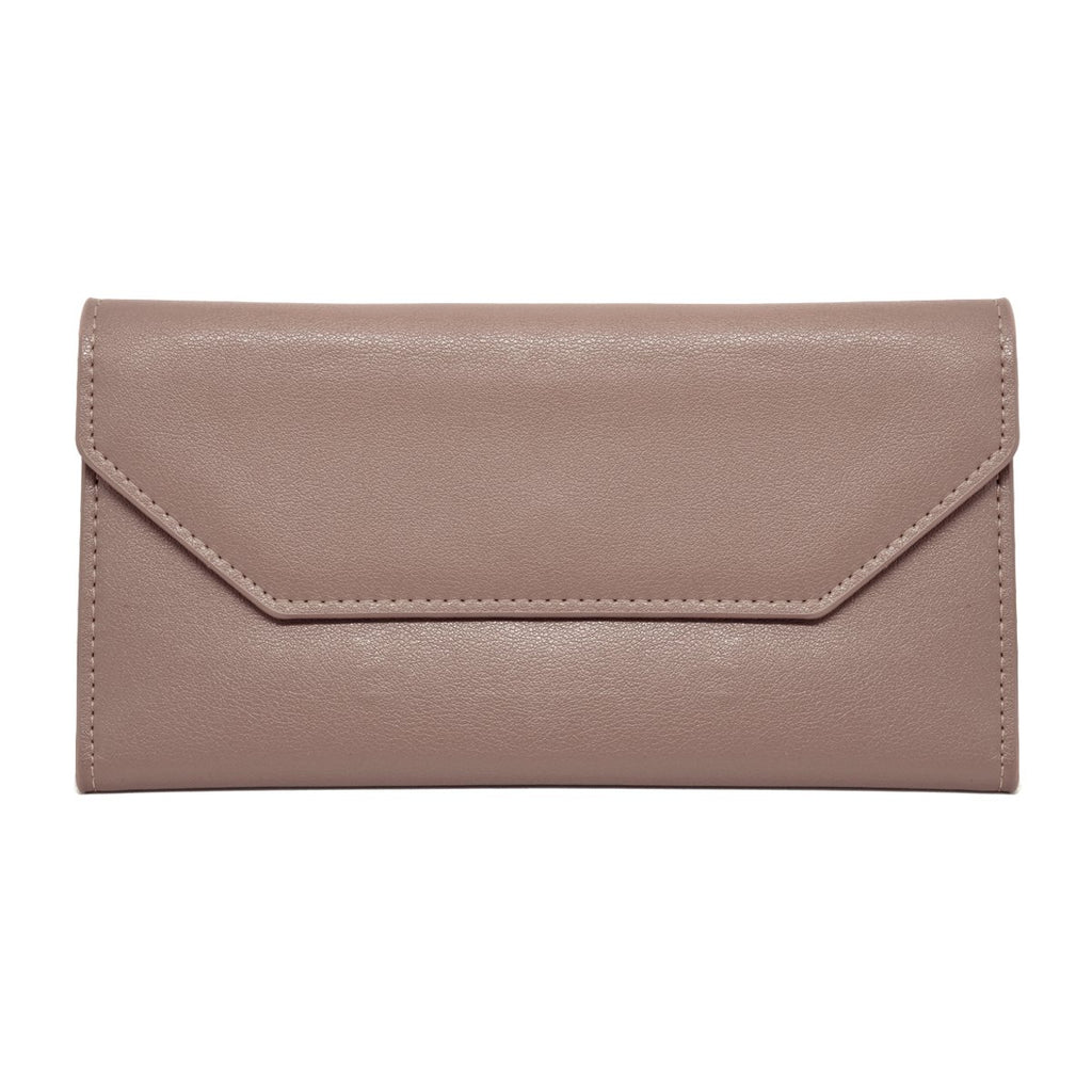 Moby Leather Wallet front - apricot