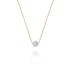 Ariel Opal Necklace - gold