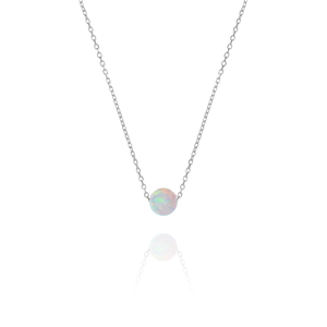 Ariel Opal Necklace - sterling silver