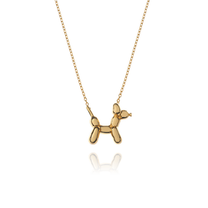 Balloon Dog Necklace - gold