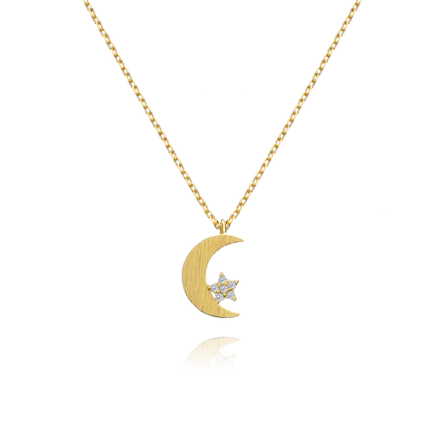 Celeste Moon & Star Necklace - gold