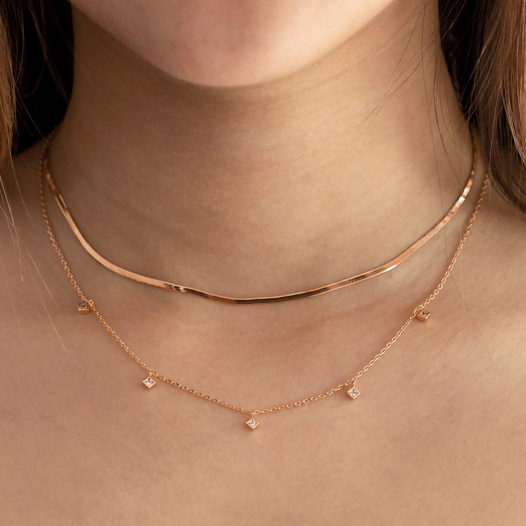 Maisie Necklace - Rose Gold