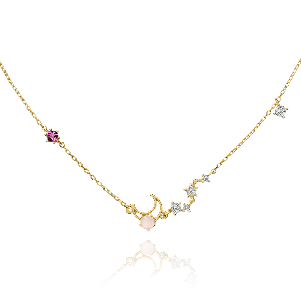 Moon Song Necklace - gold